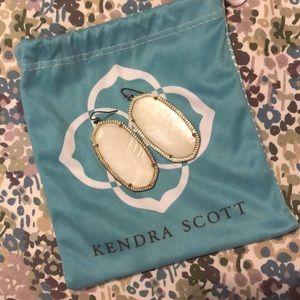Kendra Scott White Danielle Earrings